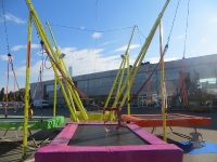 Trampoline élastique 4 pistes